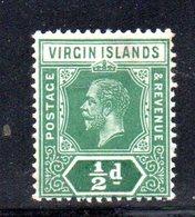 R703 - VIRGIN ISLANDS 1922 , 1/2 D. Multi CA * - British Virgin Islands