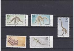 DDR 1990 Prehistoric Animals - Museum Für Naturerkunde - 5 Stamps MNH/** (M23) - Prehistorics
