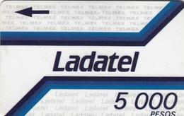 MEXICO - Ladatel Azul Con Flecha Indicadora(5,000 $), CN : 4MEXA, Used - Mexico