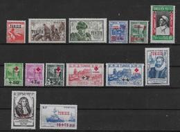 1945 1946 1947 Tunisie N° 299 à 312 Nf** MNH. - Ongebruikt