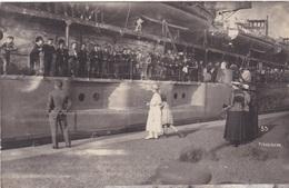 """Alte Ansichtskarte Des Minensuchschiffs """"Preussen"""" -vermutlich Im Hafen Von Wilhelmshaven- - Warships"""
