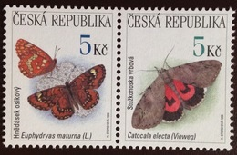 Czech Republic 1999 Butterflies MNH - Farfalle