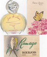 Lot De 3 Cartes Parfumée (Sisley, Crème Simon, Bourgeois) - Perfume Cards