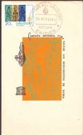 For Safe Monuments Of Nubia Egypt  Unesco  Postmark Uruguay 1964 - Uruguay