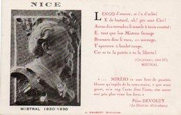 86Dm  Nice Frederic Mistral Pèire Devoluy En TBE - Nice