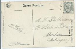 Fantasiekaart Met OCB 81 - Afstempeling VRESSE Type 1R - COBA 15 - 1893-1907 Armoiries