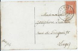 Fantasiekaart Met OCB 108 - Afstempeling LIMERLE - COBA 50 - 1912 Pellens