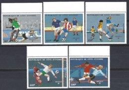 Cote D'Ivoire  Yv PA 108/12  Mexico 86 Coupe Du Monde De Football  ** Mnh - Côte D'Ivoire (1960-...)