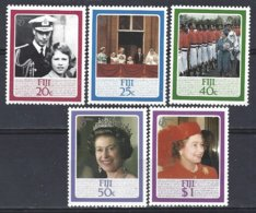 FIJI  Yv 535/9, 60e Anniversaire De S.M.Elisabeth II   ** Mnh - Fidji (1970-...)