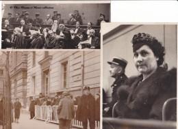 1939 - PROCES WEIDMANN - MEURTRIER - GUILLOTINE EN PUBLIC - COLETTE TRICOT - MILLION - BLANC - LOT DE 3 PHOTOS DE PRESSE - Famous People