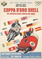 Motocycle Grand Prix Postcard Imola Coppa D'Oro Shell 1956 - Reproduction - Advertising