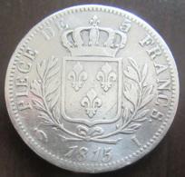 France - Monnaie 5 Francs Louis XVIII 1815 I - TB+ - France