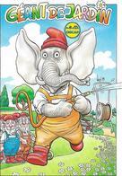 Illustrateur Bernard Veyri Caricature Geants De Jardin Les Nains Et Leur Dieu Elephant - Veyri, Bernard