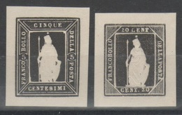 ITALIA 1862 - Saggi Thermignon - Ristampe In Nero In Rilievo    (g5352) - 1861-78 Victor Emmanuel II.