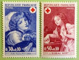 N° 1700/701  Paire Croix Rouge  De  1971 - France