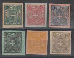 ITALIA 1863 - Saggi Sparre - Ristampe Su Carta Colorata      (g5353) - 1861-78 Victor Emmanuel II.