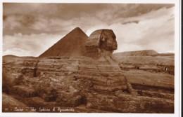 AP20 Cairo, The Sphinx And Pyramids - RPPC - Pyramids