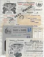 70 - Haute-saône - VELLEXON - Facture MAGNIN & MAMMES - Lessives SAPORINE, SAPOLUXE, SAPOGENINE - 1947 - REF 110C - 1900 – 1949