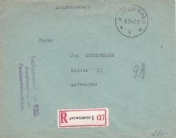German Feldpost WW2: Registered From Feldkommandantur 520 (Annahmestelle Für Passierschenanträge) - Militaria