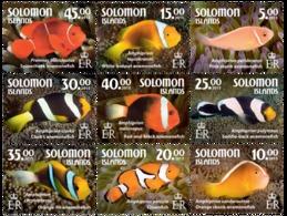 SOLOMON ISLANDS 2015 9 SETS FISHES POISSONS MARINE LIFE Slm15601a - Salomoninseln (Salomonen 1978-...)