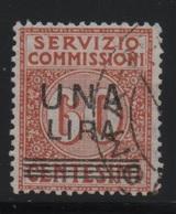 1925 Servizio Commissioni 1 L. Su 60 C. US - 1900-44 Vittorio Emanuele III
