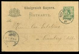 Handgeschreven Postkarte Königreich Bayern * 5 Pf * Gelopen In 1897 Van NURNBERG Naar GRUNBERG  (11.453q) - Bavaria