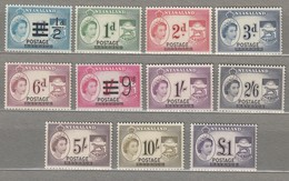 NYASALAND RHODESIA 1963 Overprinted MVLH (*) Complete Set QEII Mi 114-124 SG 188-198 Look Scan #23184 - Rhodesia & Nyasaland (1954-1963)