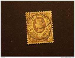 Groot Brittanië Grande-Bretagne Great Britain 1887-1900 Victoria Perf. 14 Waterm Crown Yv 96 O - 1840-1901 (Victoria)