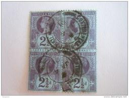 Groot Brittanië Grande-Bretagne Great Britain 1887-1900 Victoria Perf. 14 Waterm Crown Continental 4 X Yv 95 O - 1840-1901 (Victoria)