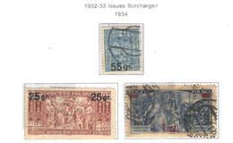 Polonia PO 1934 1932/33 Surch.    Scott.284/286+See Scan On Scott.Page; - 1919-1939 Republic