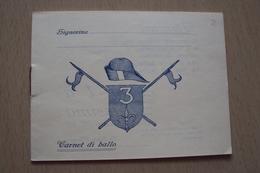 STORIA POSTALE BIGLIETTO CARNET DI BALLO LANCIERI TRIESTE 1938 - Storia Postale