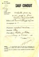 SARRY - MARNE - SAUF CONDUIT - GUERRE 14/18 - Documents Historiques