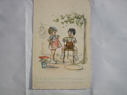 CPA - GERMAINE BOURET - ENFANTS MARIAGE ( 1943 ) - Bouret, Germaine