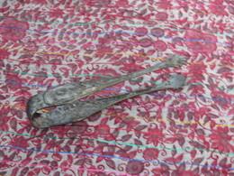 Très Beau Décor Ancien Pince à Sucre Début XXème Argent 2 G Argenterie - Vaisselle, Verres & Couverts