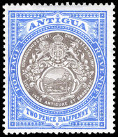 Antigua 1903-07 2½d Grey-black And Blue Crown CC Lightly Mounted Mint. - Antigua & Barbuda (...-1981)