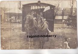 CPA PHOTO - 86 - TERCE (Arrdt POITIERS) - RARE CARTE D'un BOULANGER En ROULOTTE à Chevaux BEAU MANEGE Voir Corresp - Autres Communes