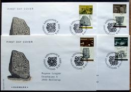 Denmark 2003   Archelogy    MiNr.1350-53  FDC  ( Lot Ks  )FOGHS COVER - FDC