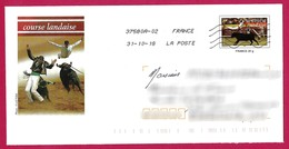 France - Prêt à Poster (PàP 154) - Tauromachie : Course Landaise, Taureaux, Vache, Sauteur, Saut De L'ange, écarteur. - Culturas