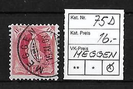 1882-1904 STEHENDE HELVETIA → SBK-75D  Meggen   ►RRR◄ - 1882-1906 Armoiries, Helvetia Debout & UPU