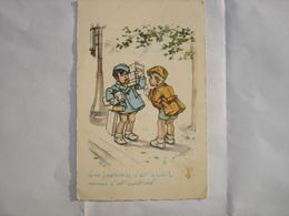 CPA - GERMAINE BOURET - 2 GARCONS DISCUTENT SUR LES FEMMES ( 1943 ) - Bouret, Germaine