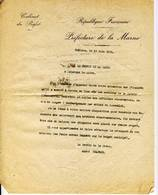 CHALON SUR MARNE - GUERRE 14/18 - PREFET - Documents Historiques