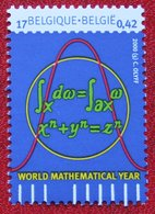 World Mathematical Year OBC N° 2890 (Mi 2941) 2000 POSTFRIS MNH ** BELGIE BELGIEN / BELGIUM - Ungebraucht