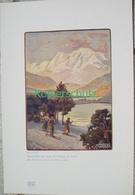 231 Weber: Winterbild Vinschgau Skifahrer Farbdruck 1906!! - Prints