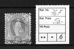 1882-1904 STEHENDE HELVETIA → SBK-76F - 1882-1906 Armoiries, Helvetia Debout & UPU