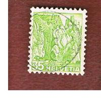 SVIZZERA (SWITZERLAND) - SG 378A  -  1936 LANDASCAPES:  KLUS  - USED - Used Stamps