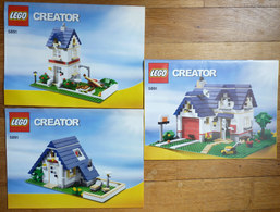 3 NOTICES DE MONTAGE LEGO CREATOR 5891 - MAISONS Plans - Planos