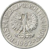 Monnaie, Pologne, 50 Groszy, 1982, Warsaw, TTB, Aluminium, KM:48.1 - Pologne