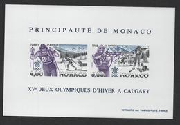 MONACO 1988 - BF BLOC FEUILLET NON DENTELE - N° 40 A ** MNH - COTE 310 EUR - Blocs