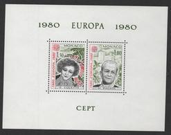 MONACO EUROPA 1980 - BLOC SPECIAL N° 13 ** MNH - COTE 500 EUR - Blocs