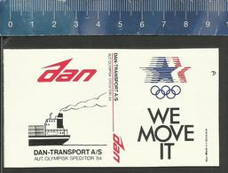 OLYMPICS OLYMPIC RINGS DAN TRANSPORT OLYMPISK SPEDITOR 1984 ( LOS ANGELES ) - Boites D'allumettes - Etiquettes